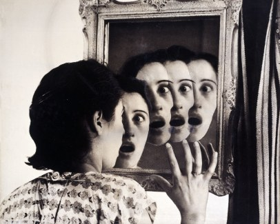 "Grete Stern, ""Dream No. 7: Who Will She Be?,"" 1949. Courtesy Museum of Modern Art (c) Estate of Horacio Coppola"